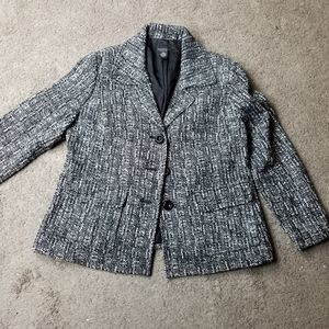 Rafaella Woman 16W Tweed Blazer Jacket